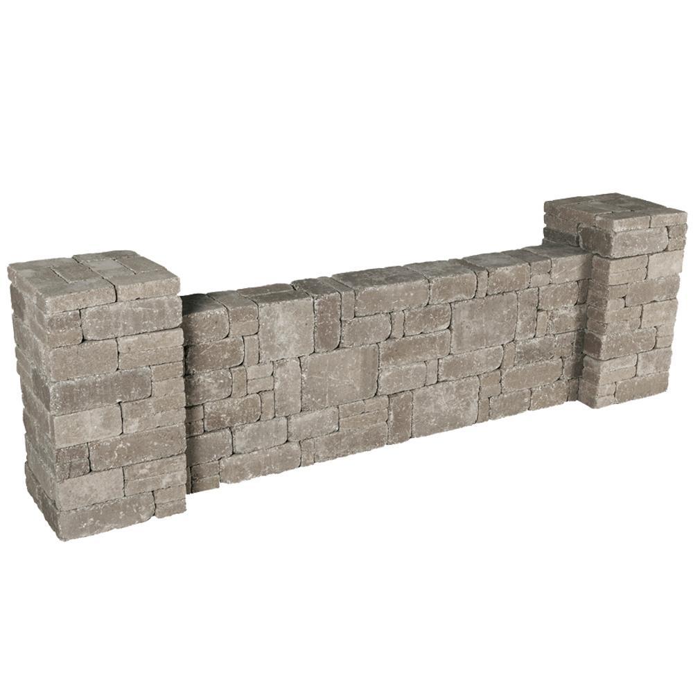 RumbleStone 87.5 in. x 26 in. x 21 in. Column/Wall Kit in Greystone