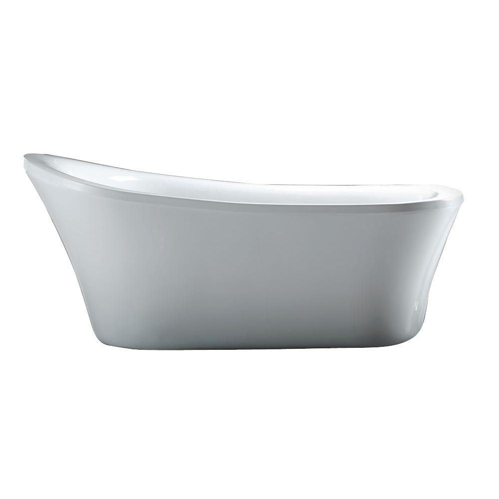 Schon Aiden 5.8 ft. Reversible Drain Bathtub in White-Aiden - The ...