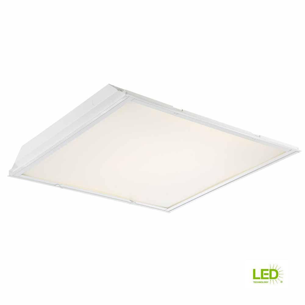 EnviroLite EnviroLite 2 ft. x 2 ft. White LED Backlit Lens Commercial Ceiling Troffer