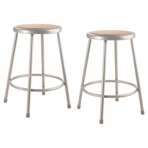 Marvelous National Public Seating 24 In Grey Heavy Duty Steel Stool Pabps2019 Chair Design Images Pabps2019Com