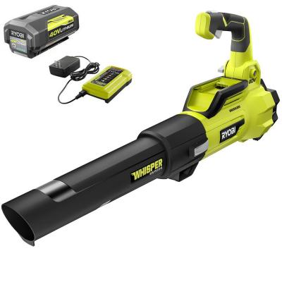 125 MPH 550 CFM 40-Volt Lithium-Ion Brushless Cordless Jet Fan Leaf Blower - 4.0 Ah Battery and Charger Included