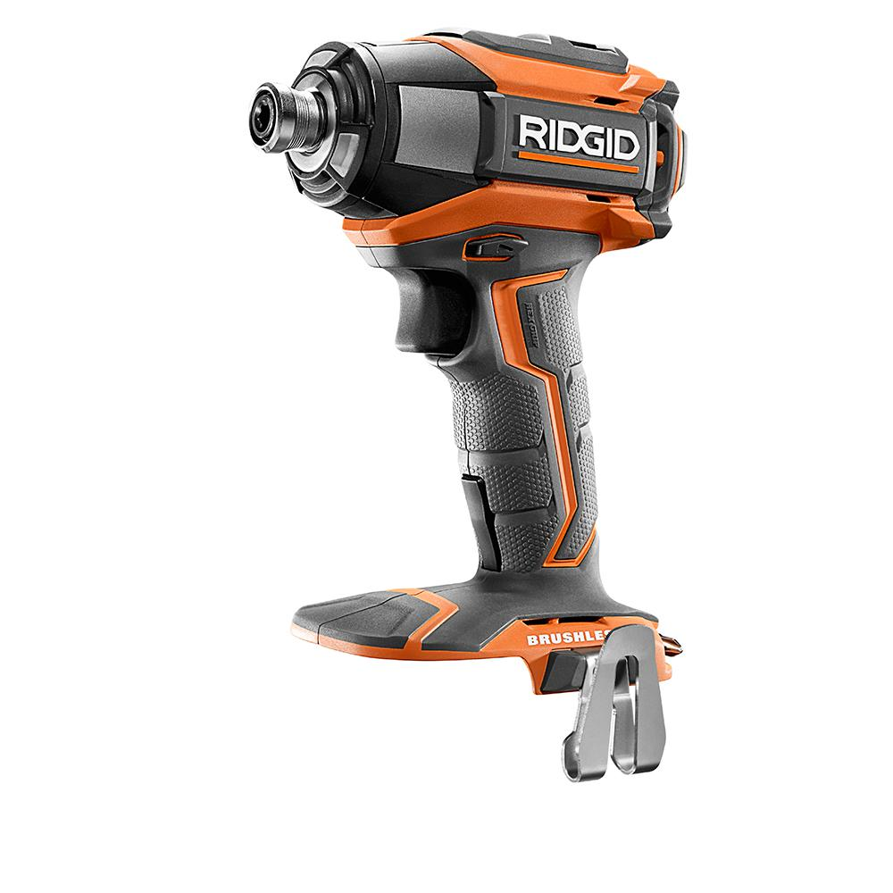 RIDGID 18-Volt GEN5X Brushless 1/4 in. 3-Speed Impact Driver Bare Tool