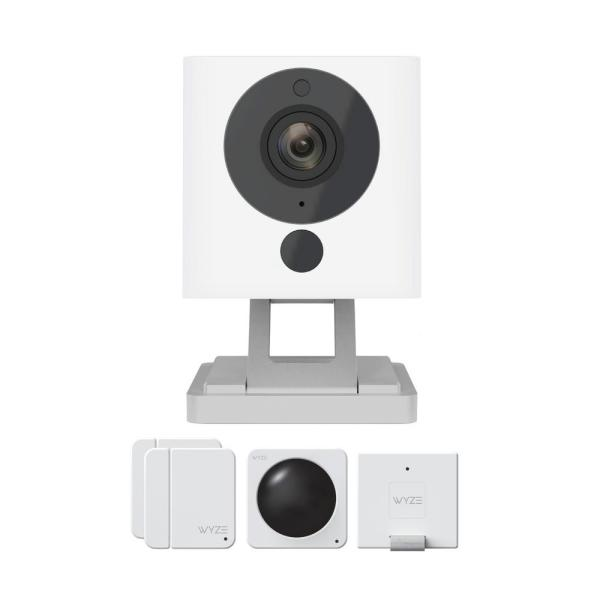 1080p Indoor Wireless Surveillance System includes WyzeCam v2 Camera and Wyze Sense Starter Kit