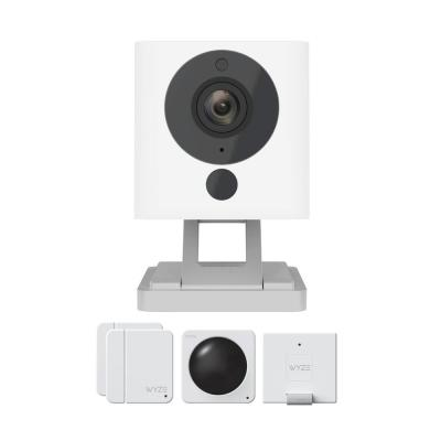 Wired 1080p Indoor Bullet Surveillance Wi-Fi System Includes Camera and Contact and Motion Sensor Starter Kit
