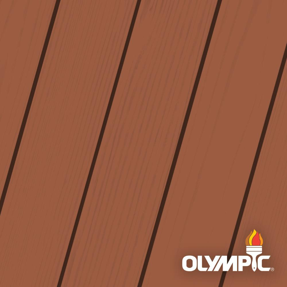 Olympic Elite 1 gal. Jatoba Semi-Transparent Advanced Exterior Stain and Sealant in One Low VOC