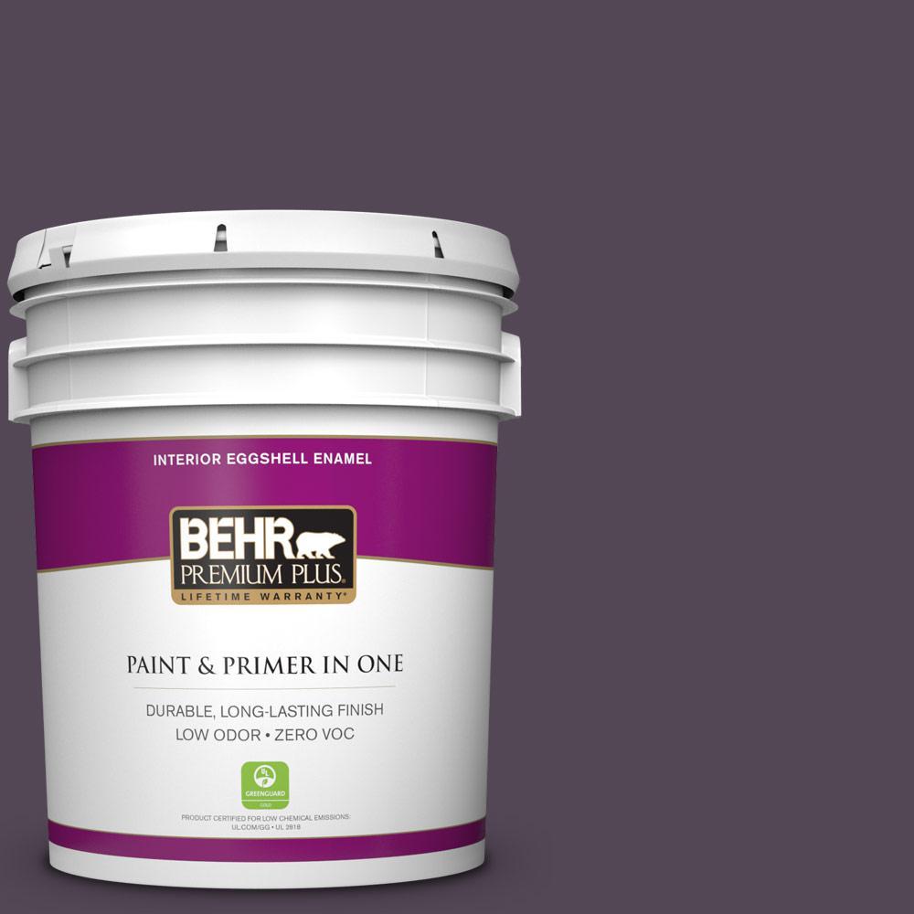 5 gal. #BXC-51 Deep Mulberry Zero VOC Eggshell Enamel Interior Paint