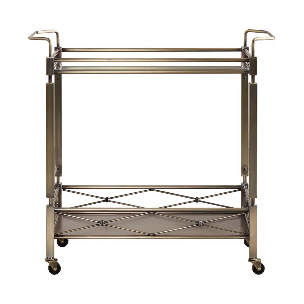 HomeSullivan Anise Antique Brass Bar Cart