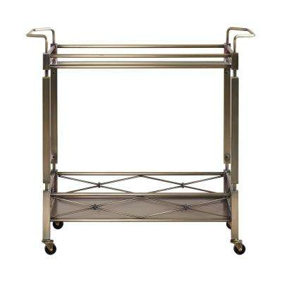 Anise Antique Brass Bar Cart