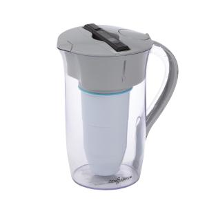 ZeroWater ZP-006-4 6 Cup Pitcher with Free Water Quality Meter Blue and White