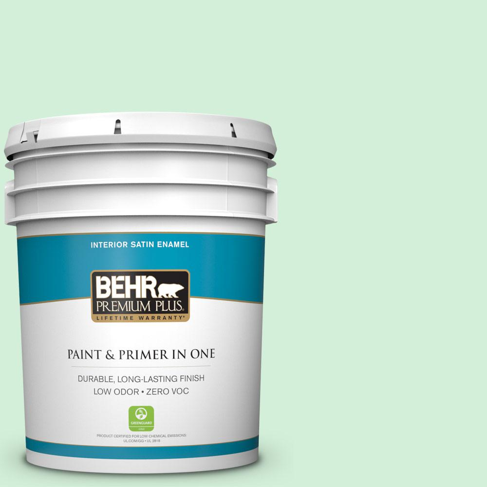 5-gal. #460A-2 Tropical Dream Zero VOC Satin Enamel Interior Paint