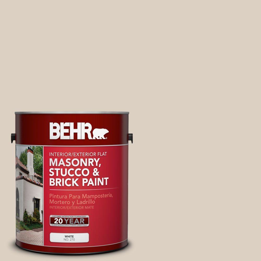 1-gal. #MS-13 Aspen Flat Interior/Exterior Masonry, Stucco and Brick Paint