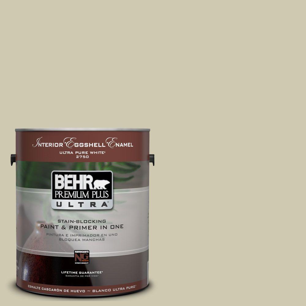 BEHR Premium Plus Ultra 1-Gal. #UL200-14 Cilantro Cream Interior Eggshell Enamel Paint