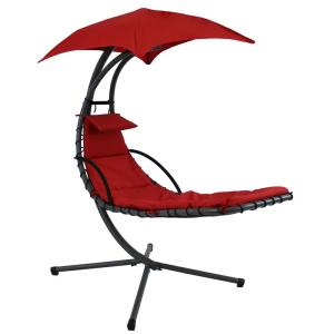 Sunnydaze Decor Steel Outdoor Floating Chaise Lounge Chair ...