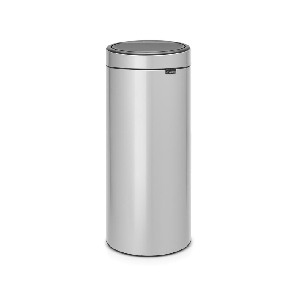Brabantia Touch Bin 50 Liter Wit.Brabantia 8 Gal Touch Top Trash Can In Metallic Gray