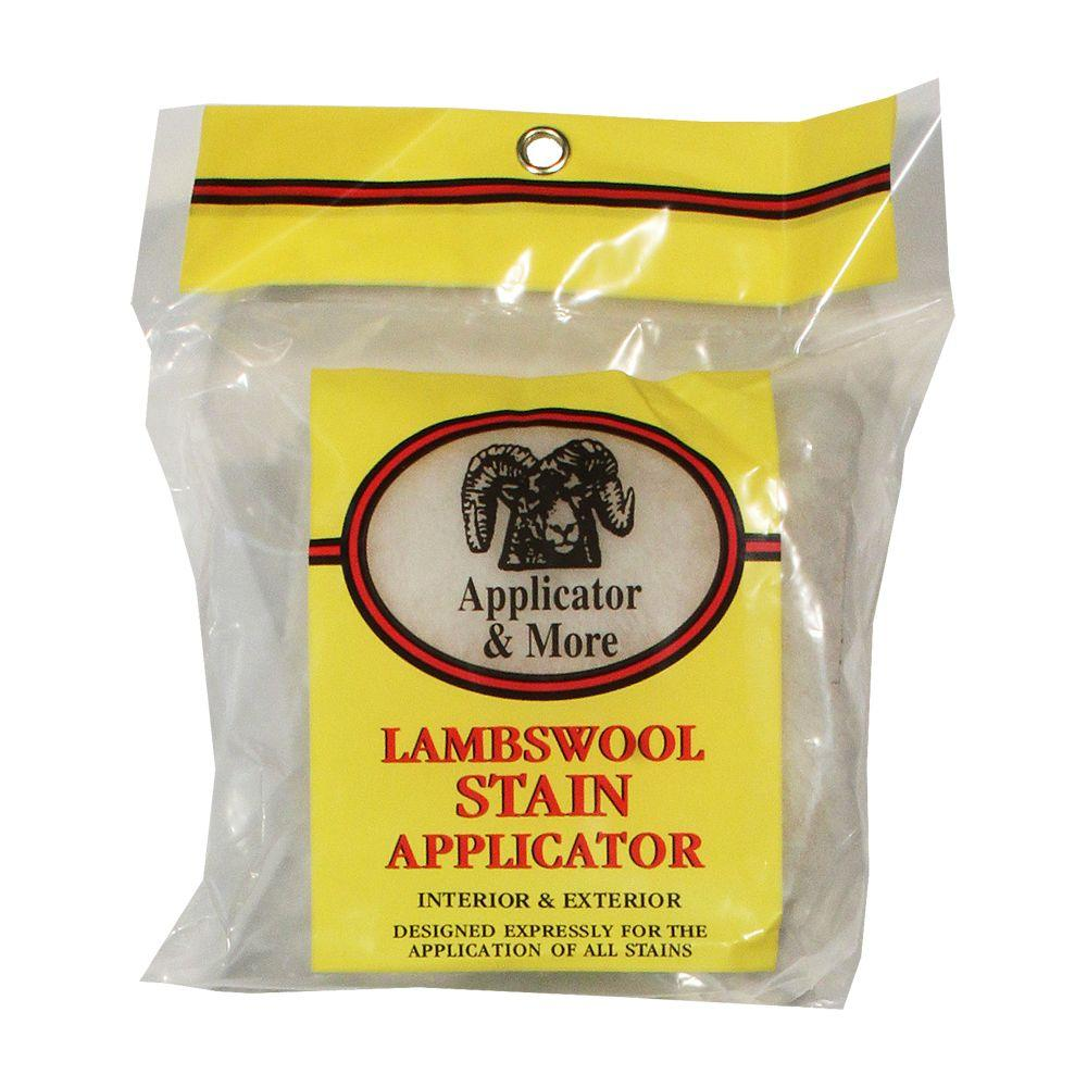 Applicator and More 5 in. Lambswool Stain Applicator