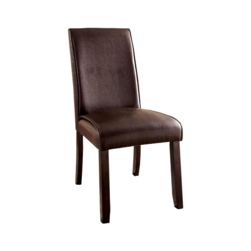 Gladstone I Contemporary Dark Walnut Side Chair (Set of 2)