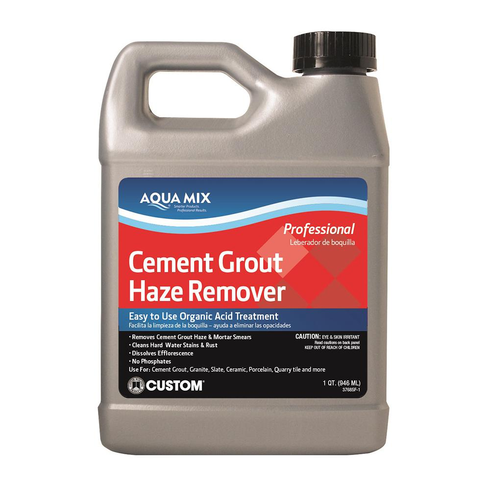 Custom Building Products Aqua Mix Qt Cement Grout Haze Remover - Cleaning grout off porcelain tile