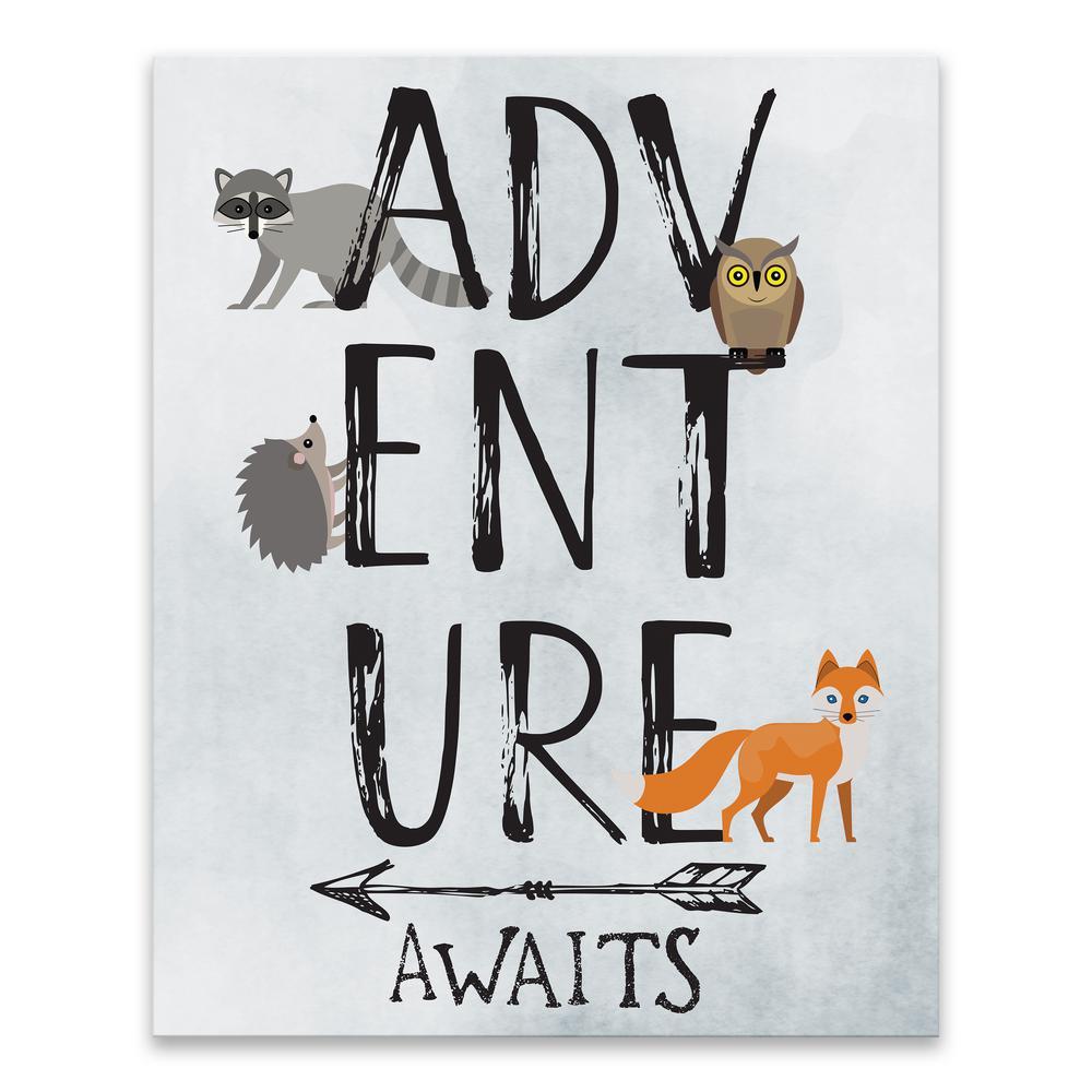 """Adventure Awaits""  by Lot26 Studio Printed Canvas Wall Art"
