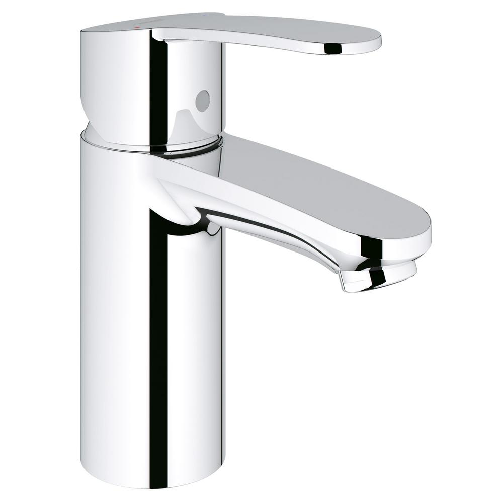 Grohe eurostyle cosmopolitan single hole single handle for Robinet salle de bain home depot