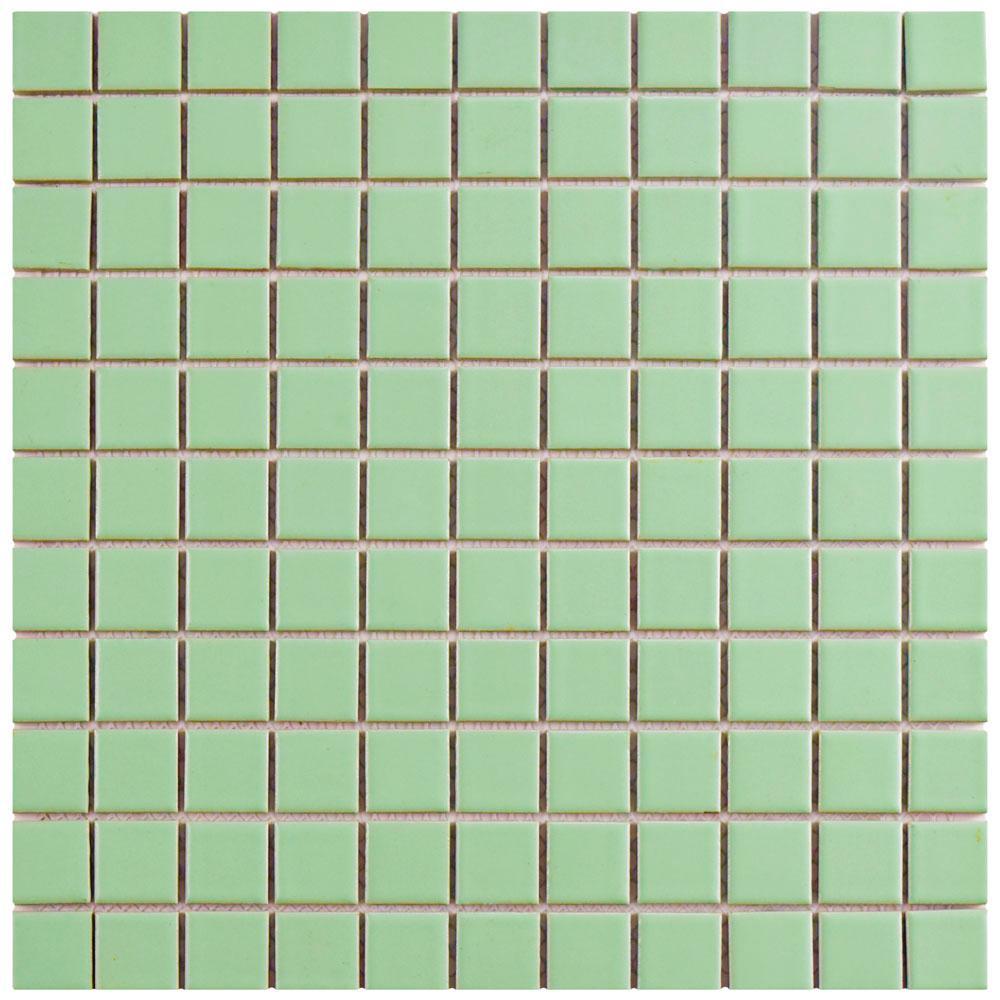 Metro Square Matte Light Green 11-3/4 in. x 11-3/4 in. x