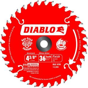 Diablo 4 38 in x 36 teeth trim saw blade d0436x the home depot greentooth Image collections