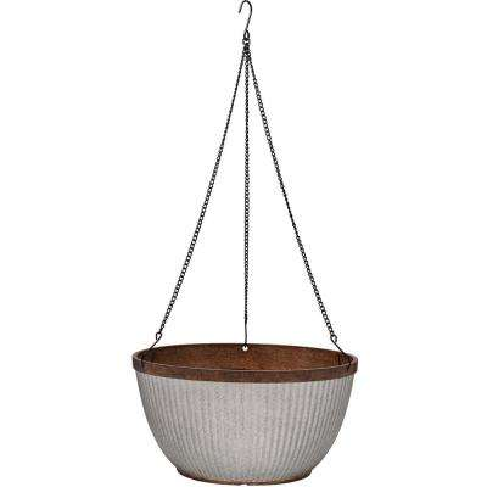 Westlake 12 in. Dia Galvanized Rustic Hanging Basket