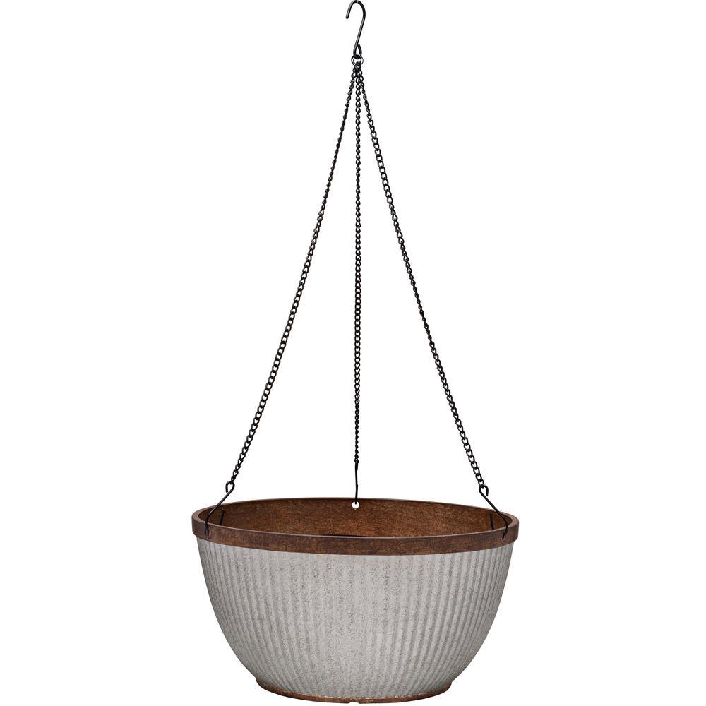 Westlake 12 in. Dia Rustic Galvanized Hanging Basket