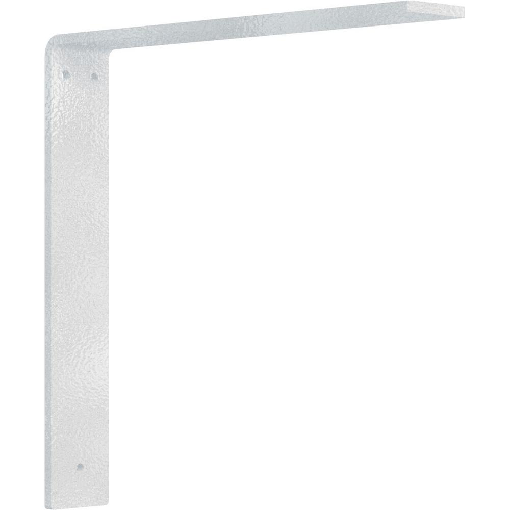 12 in. x 2 in. x 12 in. Steel Hammered White