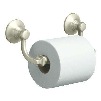Bancroft Wall-Mount Double Post Toilet Paper Holder in Vibrant Brushed Nickel