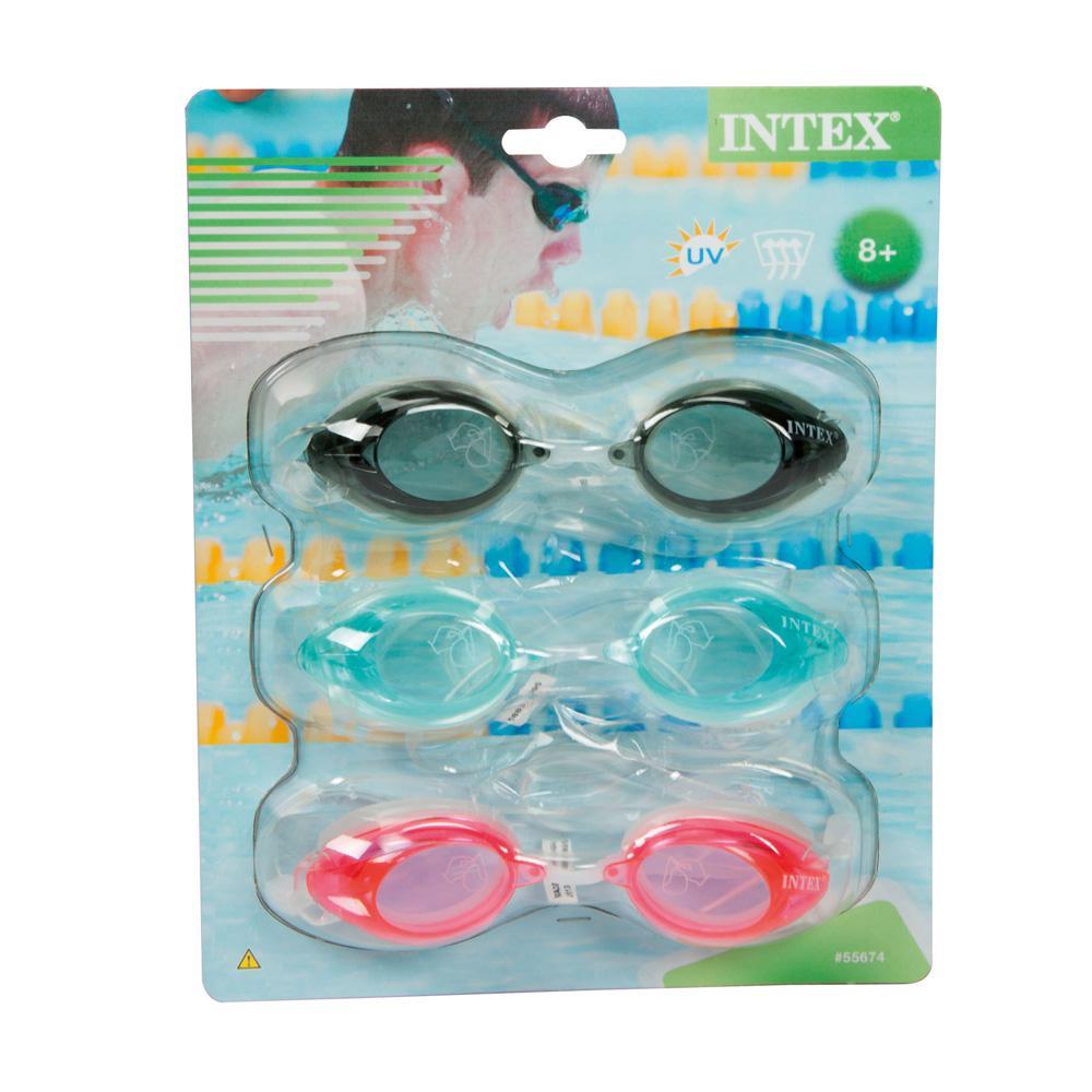 Intex Recreation Sports Goggle (3-Pack), Multi