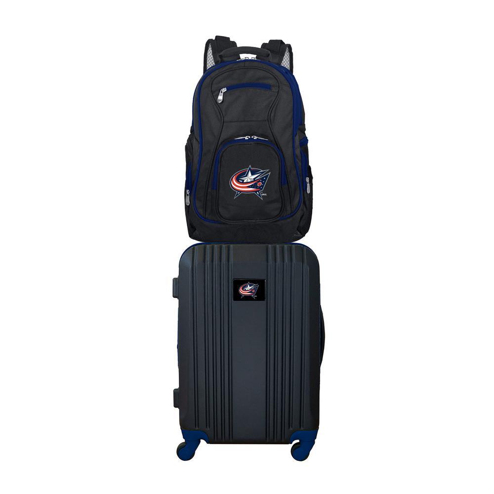 NHL Columbus Blue Jackets 2-Piece Set Luggage and Backpack
