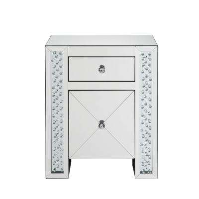 Maisha Mirrored and Faux Crystals Nightstand