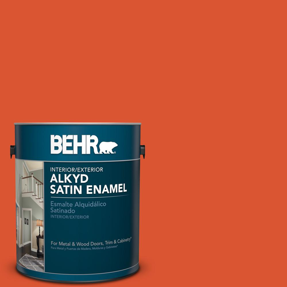 1 gal. #P190-7 Inferno Satin Enamel Alkyd Interior/Exterior Paint