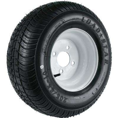 215/60-8 K399 BIAS 935 lb. Load Capacity White 8 in. Wide Profile Bias Tire and Wheel Assembly