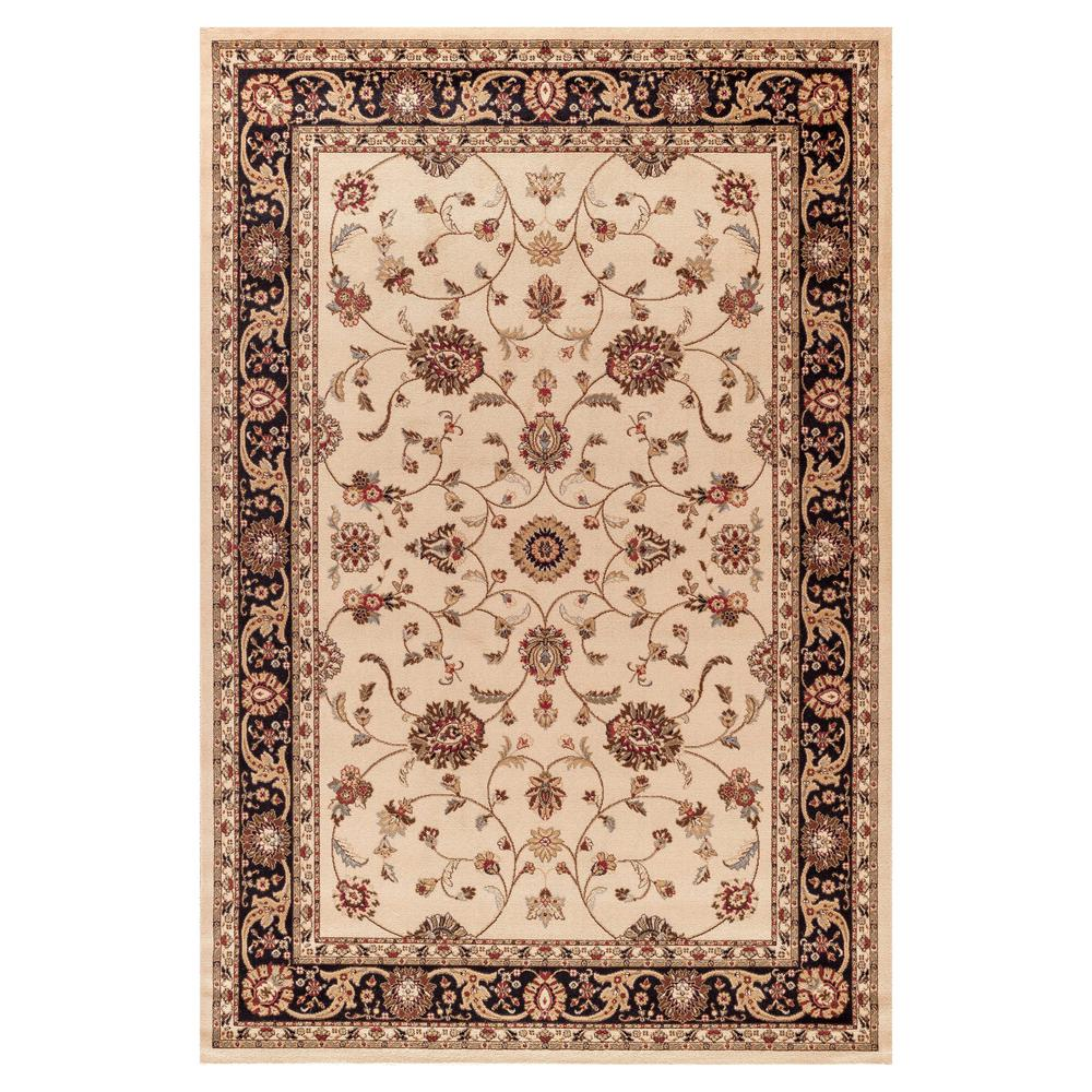 Concord Global Trading Jewel Marash Ivory 3 ft. 11 in. x 5 ft. 7 in. Area Rug