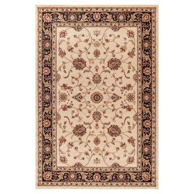Jewel Marash Ivory 3 ft. 11 in. x 5 ft. 7 in. Area Rug