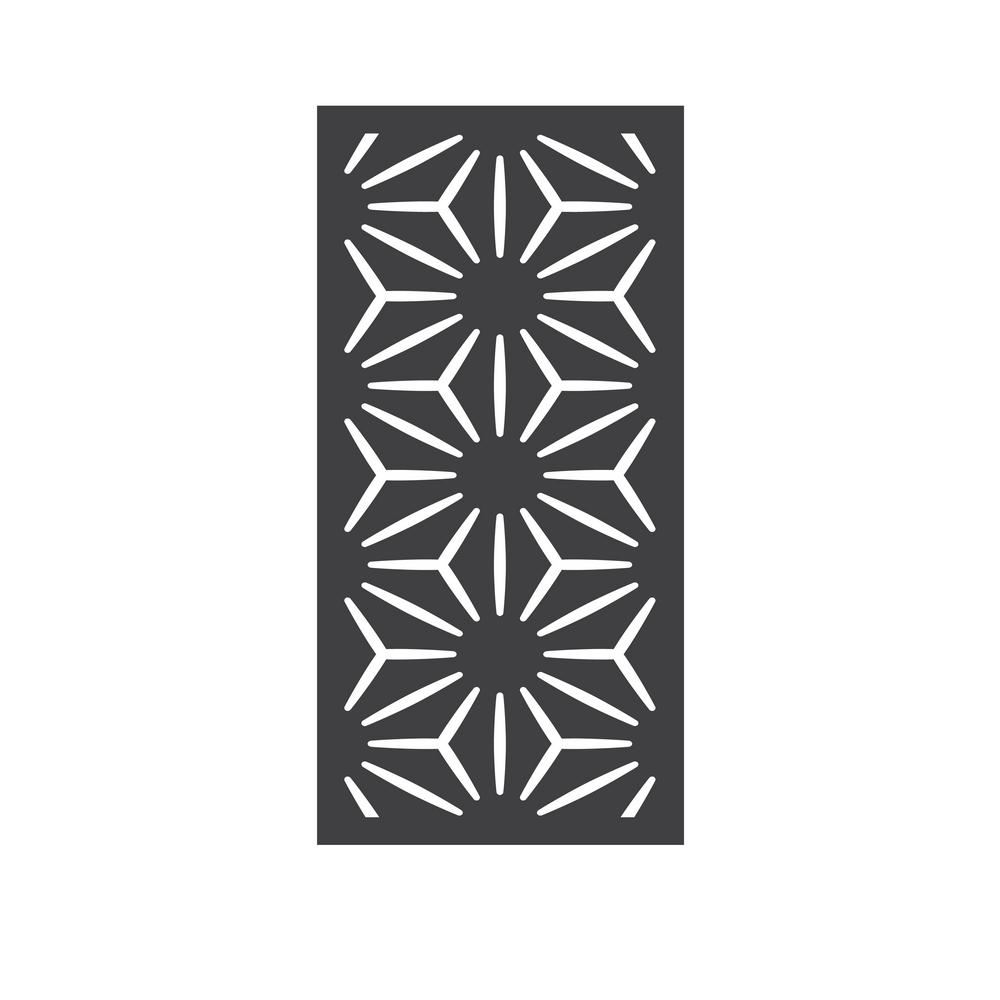 OUTDECO 5/16 in. x 24 in. x 48 in. Star Anais Modular Hardwood Composite Decorative Fence Panel