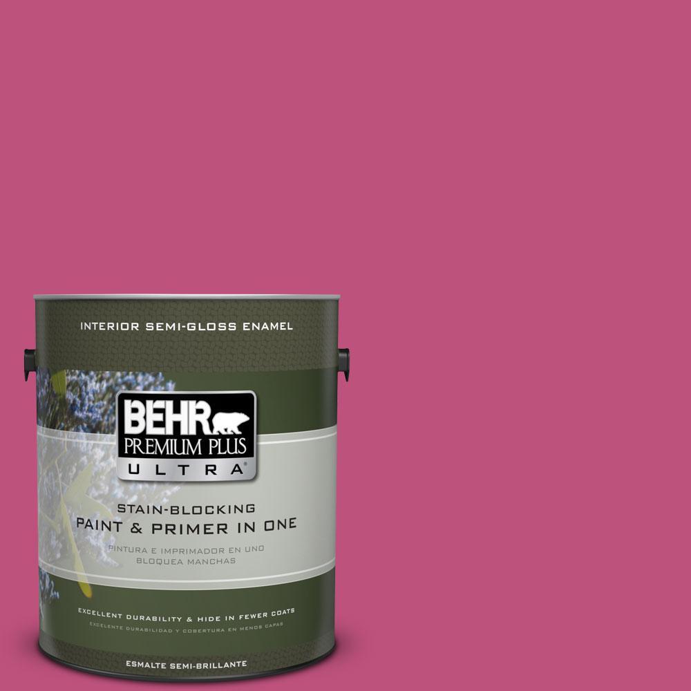 BEHR Premium Plus Ultra 1-gal. #S-G-100 Tutti Frutti Semi-Gloss Enamel Interior Paint