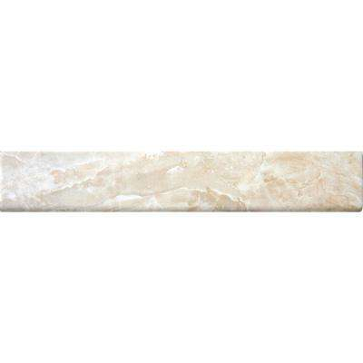 Onyx Crystal 3 in. x 18 in. Porcelain Bullnose Wall Tile (15 lin. ft. / 10 pieces / case)