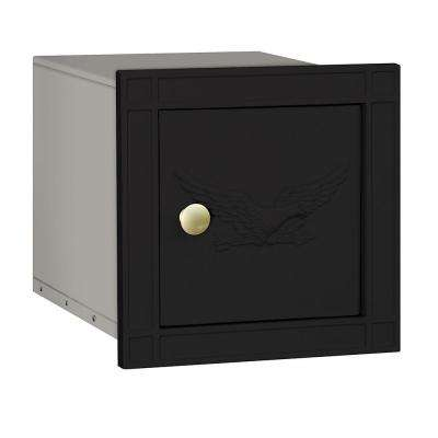 4100 Series 11.5 in. W x 11.5 in. H x 15.75 in. D Black Non-Locking Eagle Door Cast Aluminum Column Mailbox