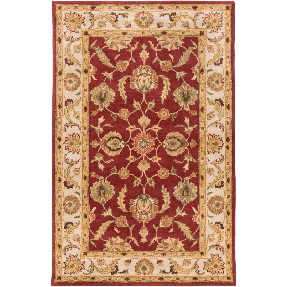 Oxford Isabelle Rust 3 ft. x 5 ft. Indoor Area Rug