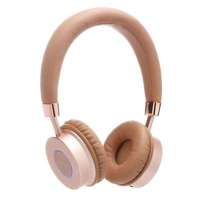 KB200 Premium Kids Headphones w/Volume Limit Controls : Wireless Bluetooth Headphones Over-the-Ear W/Microphone (Gold)