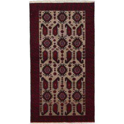 Balouch Red 3 ft. x 6 ft. Runner Rug
