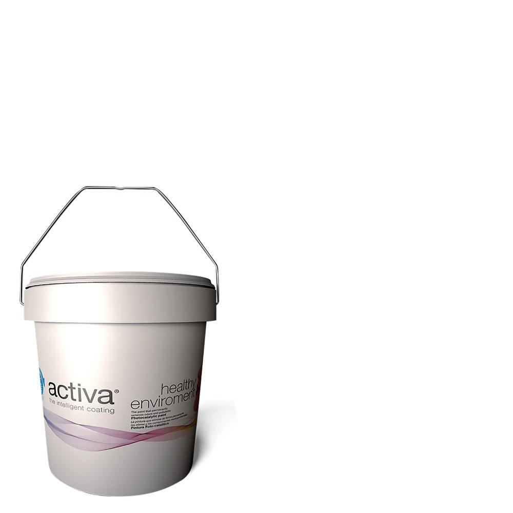 Activa 1 gal. Trim White Latex Premium Antimicrobial Anti-Mold Earth Friendly Self-Cleaning Photocatalytic Interior Paint