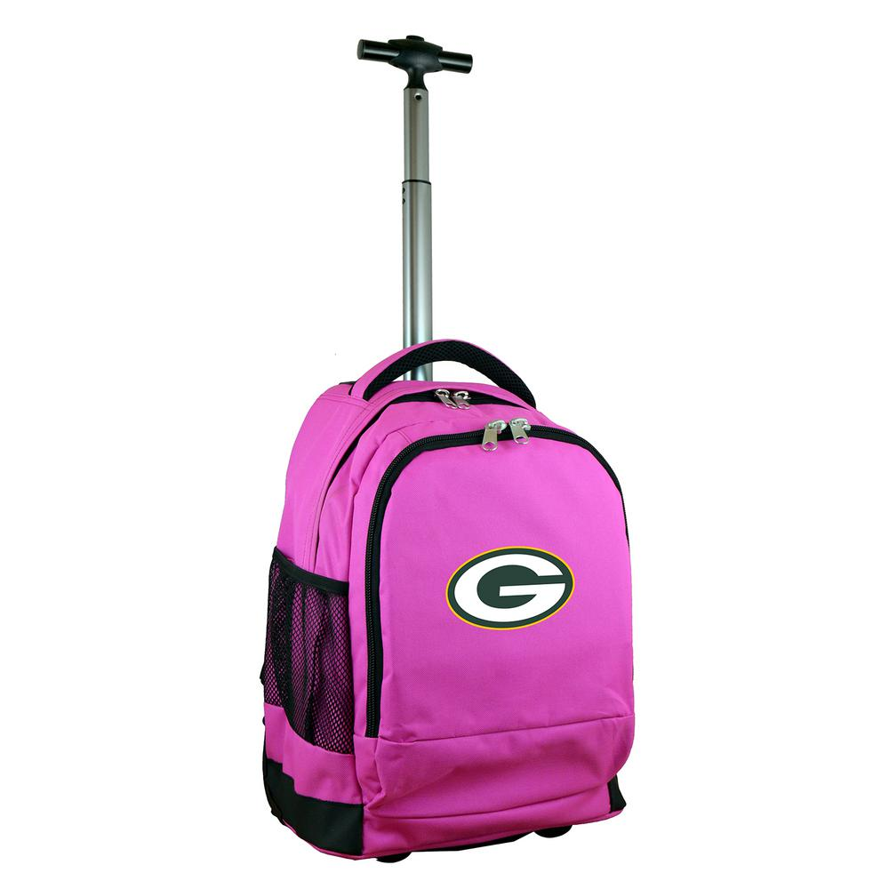 NFL Green Bay Packers 19 in. Pink Wheeled Premium Backpack