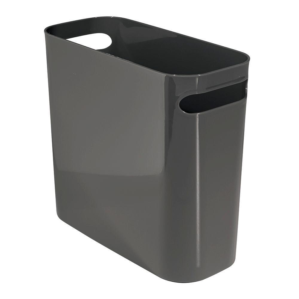 interDesign Una 10 in. Waste Can in Slate Gray