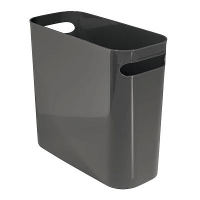 Una 10 in. Waste Can in Slate Gray
