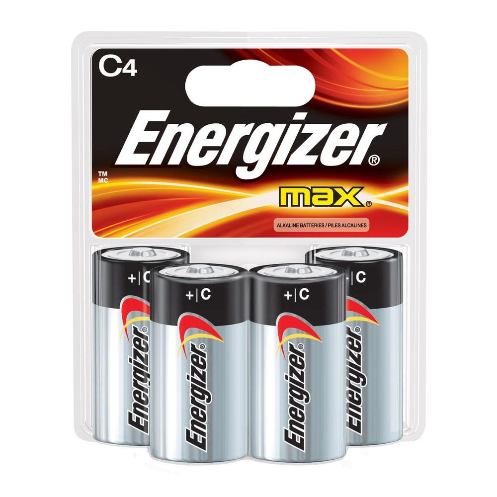 Energizer MAX Alkaline C Battery (4-Pack)