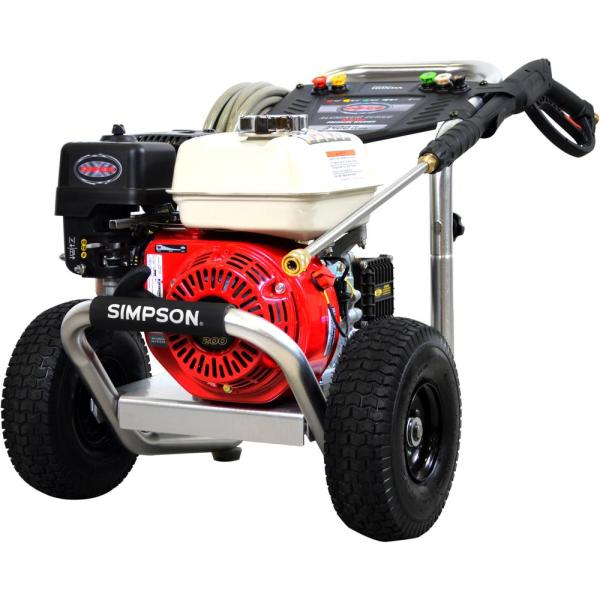 Simpson 60689 Aluminum 3600 PSI 2.5 GPM Professional Gas Pressure Washer with AAA Triplex Pump
