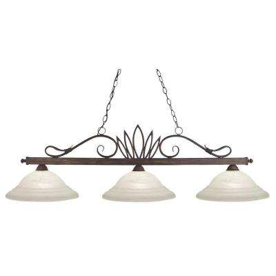Lawrence Collection 3-Light Weathered Bronze Island Light